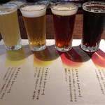 徳蔵Cafe - いわて蔵ビール おためし4種