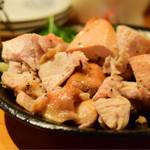 おじんじょ - 神明鶏の肉汁焼き(上:ヘルシー手羽むね)@1,480円