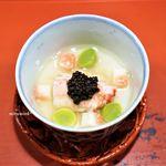 祇園 大渡 - 毛蟹の白い茶碗蒸し