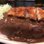 カレーとハンバーグの店 バーグ - 魚フライカレー 大盛り