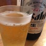 とんかつ こころ - ビール(中瓶)