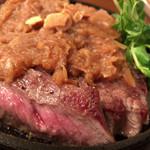 武田屋 - リブロースガーリックステーキ
