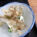 さらしな - 飛騨牛 牛めし膳のやっこ、大垣のお豆腐