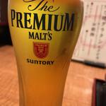 ぶぶ亭 - 生ビール 中