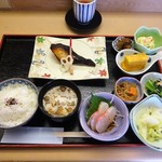 74288255 - ランチ:焼魚定食(銀鱈西京焼)