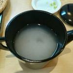 武柳庵 - 蕎麦湯、、、ドロドロで美味しい