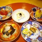 74289207 - 伊勢志摩の黒鮑、岐阜の松茸、京都の素麺南瓜、京都の百合根とキャビア、高知のフルーツトマト