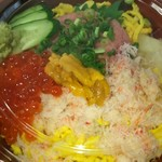 銀のさら - 料理写真:三色丼1690円+税