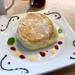 むさしの森珈琲 - パスタセットのリコッタパンケーキ