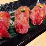 炭・地酒・個室 朧~OBORO~ - 仙台牛炙り鮨