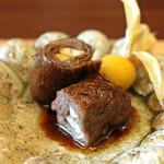 柚木元 - 松茸の牛肉巻き