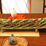 柚木元 - 子持ち鮎のつけ焼き