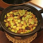 柚木元 - 松茸の炊き込みご飯 銀杏入り