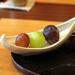 柚木元 - 地元産の葡萄三種