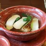 柚木元 - 朝採りの松茸と鱧の土瓶蒸し