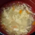 好味苑 - 好味苑 @本蓮沼 日替わりランチAに付く溶き玉子スープ