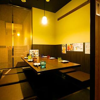 多彩な半個室・個室!歓迎会は貸切宴会も大歓迎です◎