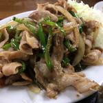 中華料理一番 - しょうが焼き定食 しょうが焼きアップ