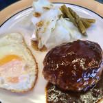 麺や すずらん亭 - ハンバーグセット