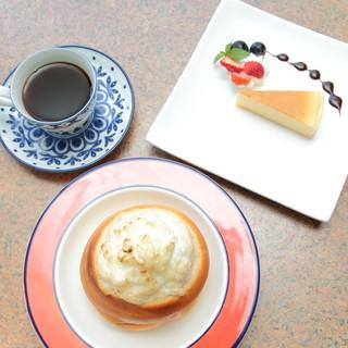 カフェテラスセット(ケーキ、ドリンク付)