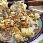 豊野丼 - やりいか天丼