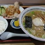 ラーメン万万 - 焼き肉セット(860円)