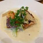 タケモト - ランチの魚料理 真鯛のパデイウ レモン風味のソース
