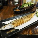 串ザンマイ - サンマ塩焼き