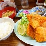 さすけ食堂 - 2017年8月 アジフライ定食【1200円】