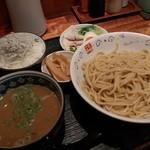 麺dining月乃家 - 甘旨つけ麺(半月)【メンマ増】Cセット(しらすご飯&鶏唐揚げ) 2017年9月27日