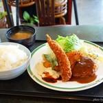カフェレスト木鶏 - 2017年9月 Bランチごはん大【850+100円】