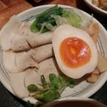 麺dining月乃家 - 甘旨つけ麺【半月】具別皿 2017年9月27日