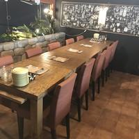 8名様〜10名様宴会のテーブルイメージ