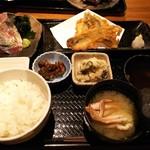 ふわり - コラボランチセット(炙り鯖×地魚天麩羅) ¥1,000(税込)