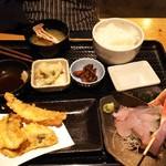 ふわり - コラボランチセット(ほうぼう×地魚天麩羅) ¥1,000(税込)