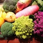 リストランテ アルベラータ - 三浦の高梨農場さんの冬野菜。