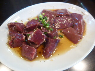 神保町食肉センター - C(ハツ(塩)、レバー(塩))