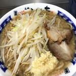 元祖ラーメン 大 - ラーメン並 醤油 野菜多め