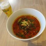 麻辣大学 - 坦坦細麺、ビール