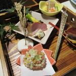 奥阿蘇の宿 やまなみ - 料理写真:【前菜八寸盛】