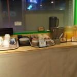 麦とろガーデン - 地味なドリンクバー