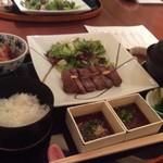 中村孝明YOKOHAMA - 黒毛和牛厚切りステーキ膳
