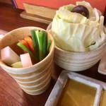 74344109 - キャベツ盛、スティック野菜