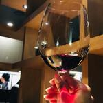 東京苑 - 赤ワイングラスで♪