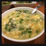 四川麻辣火鍋 天府 - 玉子豆腐スープ 480円