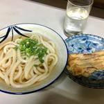 増井米穀店 - 料理写真:かけうどん200円 ちくわ天90円