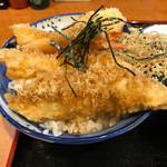 たま天 - 料理写真:さわらとエビの天丼960円(税込) ※本日のサービス品