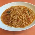 74353070 - ズワイ蟹と渡り蟹のトマトソーススパゲティ