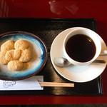 五十鈴茶屋 - 本わらび餅とコーヒーセット(1000円)