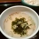74354876 - さっぱりネギ塩カルビ丼セットのスープ